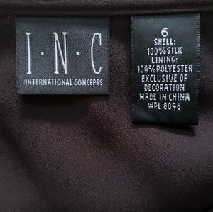 INC International Concepts Skirts - Long brown ruffled bottom skirt